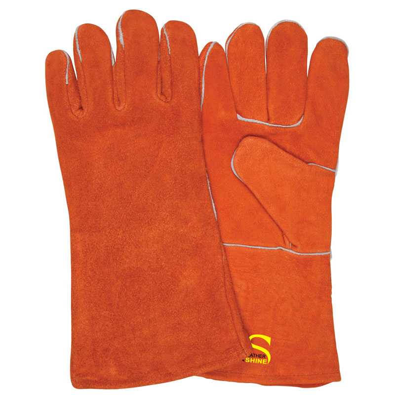 Welding Gloves With Piping